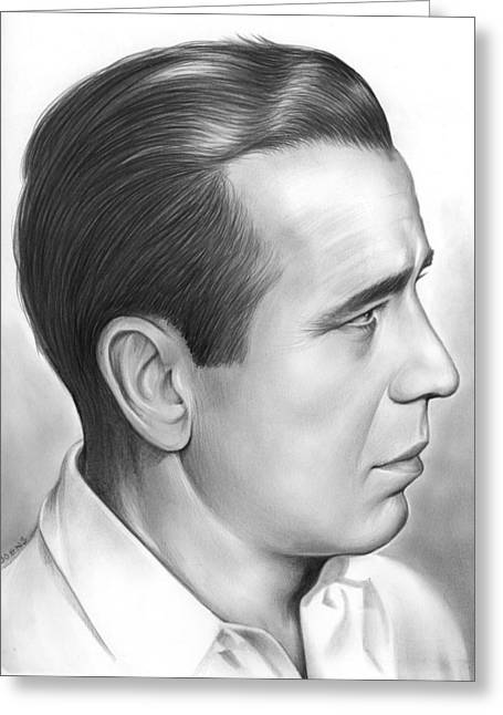 Bogart Greeting Card by Greg Joens
