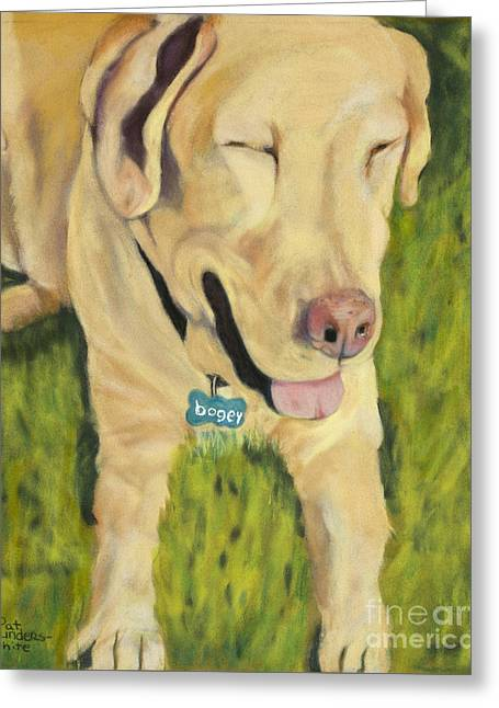 Greeting Cards - Bogey Greeting Card by Pat Saunders-White