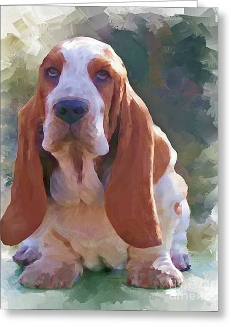 Dogs Digital Art Greeting Cards - Bogey Greeting Card by Robin  Waters