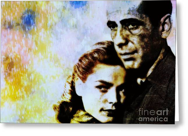 Bogie and Bacall Greeting Card by WBK