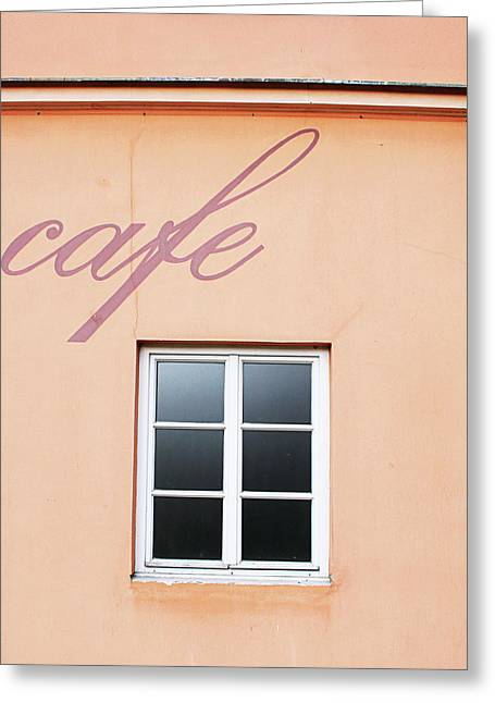 Bohemian Cafe- By Linda Woods Greeting Card by Linda Woods