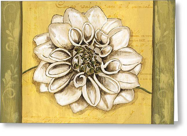 Handwriting Greeting Cards - Bohemian Dahlia 1 Greeting Card by Debbie DeWitt