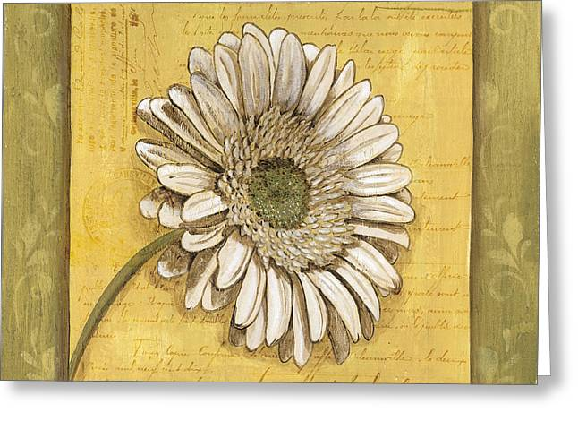 Creative Paintings Greeting Cards - Bohemian Daisy 1 Greeting Card by Debbie DeWitt