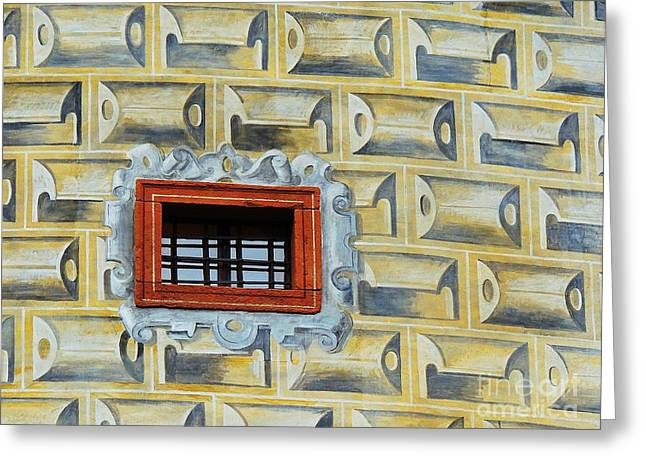 Rectangles Greeting Cards - Bohemian Window Greeting Card by Alexandra Lavizzari
