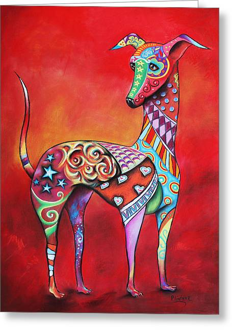 Italian Greyhound  Greeting Card by Patricia Lintner