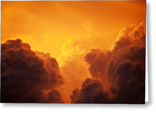 Weather Report Greeting Cards - Boiling Gold Greeting Card by Dale Frazier
