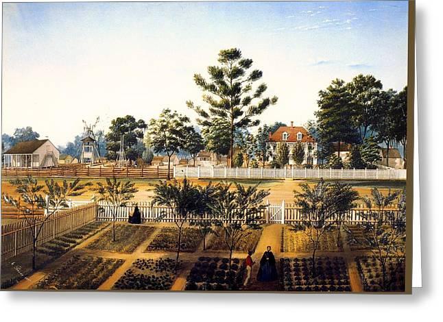 Slaves Greeting Cards - Bois de Fleche Plantation Louisiana 1861 Greeting Card by Adrien Persac