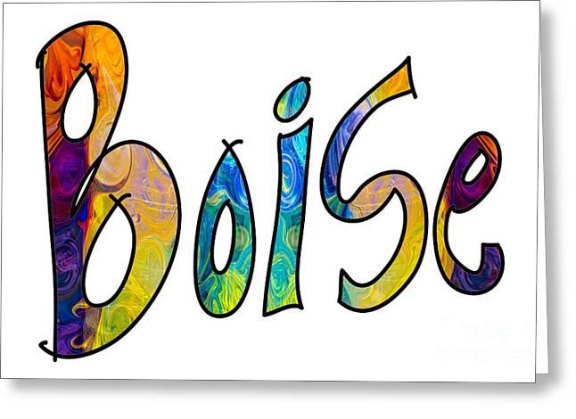 Chakra Rainbow Drawings Greeting Cards - Boise Rainbow Graphic Abstract Idaho Art by Omaste Witkowski  Greeting Card by Omaste Witkowski