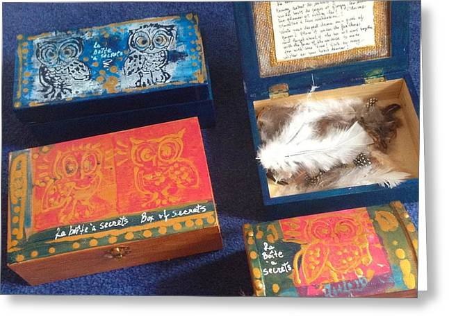 Boxe Greeting Cards - Boite a secrets - secret bode Greeting Card by Natalie Sicard