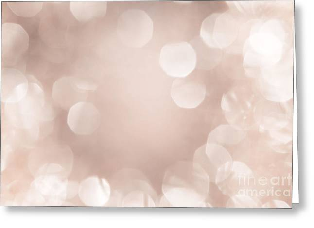 Twinkle Greeting Cards - Bokeh in soft pastel color Greeting Card by Wolfgang Steiner