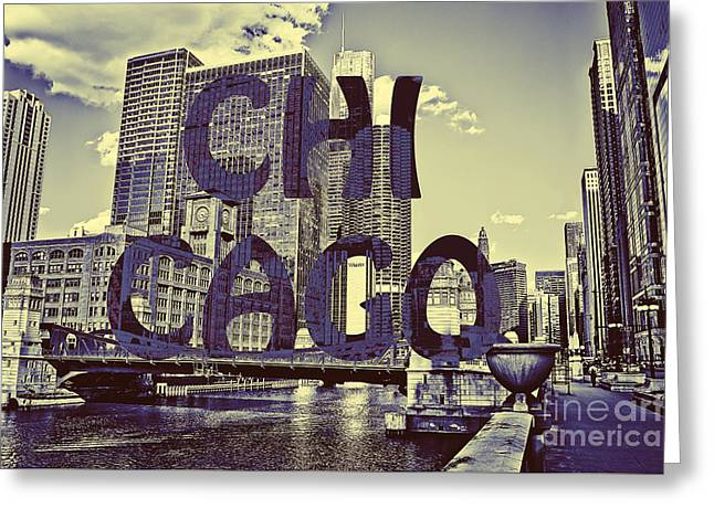 Lasalle Street Greeting Cards - Bold Chicago Greeting Card by Emily Enz