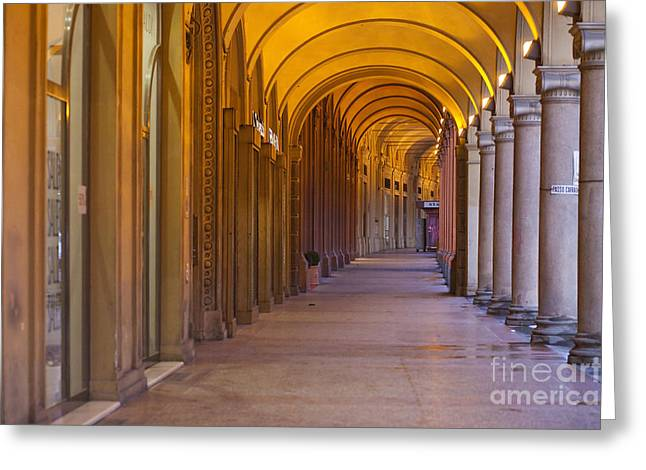 Police Art Greeting Cards - Bologna Archs Greeting Card by Andre Goncalves