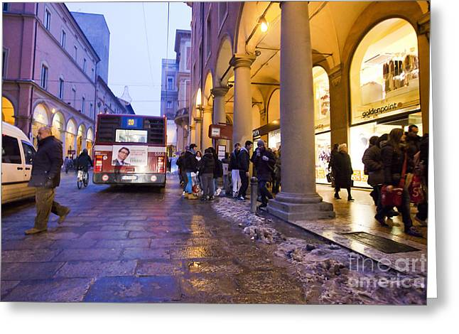 Police Art Greeting Cards - Bologna at Dusk Greeting Card by Andre Goncalves