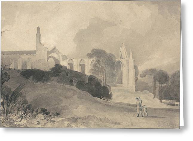 Bolton Priory, Yorkshire Greeting Card by John Sell Cotman