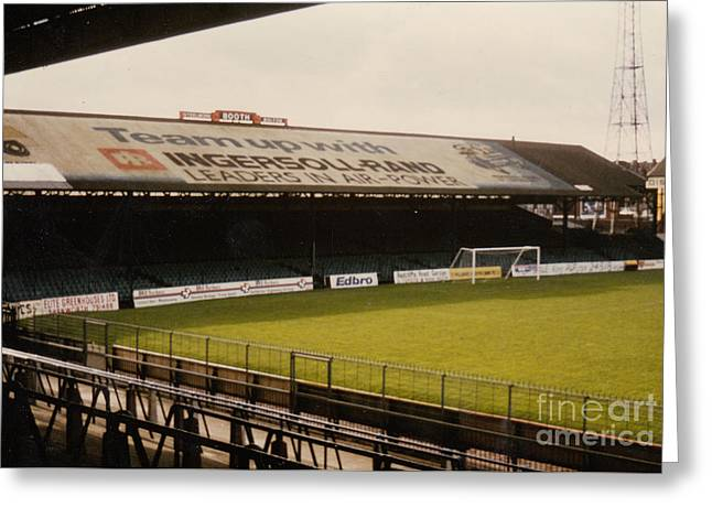 Reebok Greeting Cards - Bolton Wanderers - Burnden Park - South Stand 1 - September 1969 Greeting Card by Legendary Football Grounds