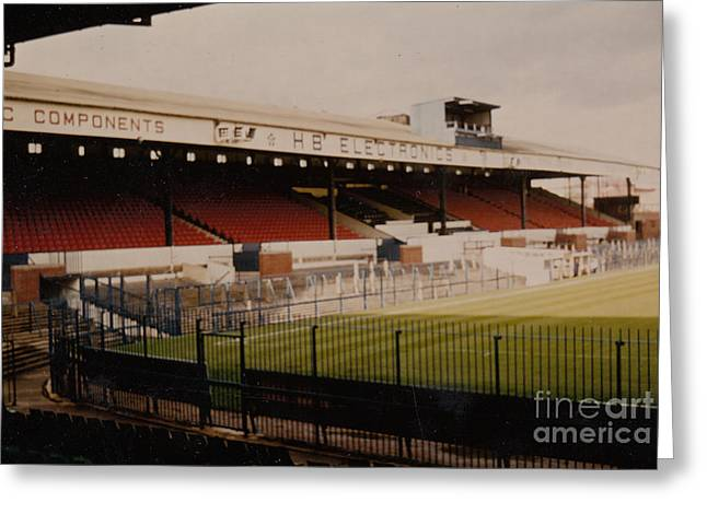 Reebok Greeting Cards - Bolton Wanderers - Burnden Park - West Stand 1 - September 1969 Greeting Card by Legendary Football Grounds