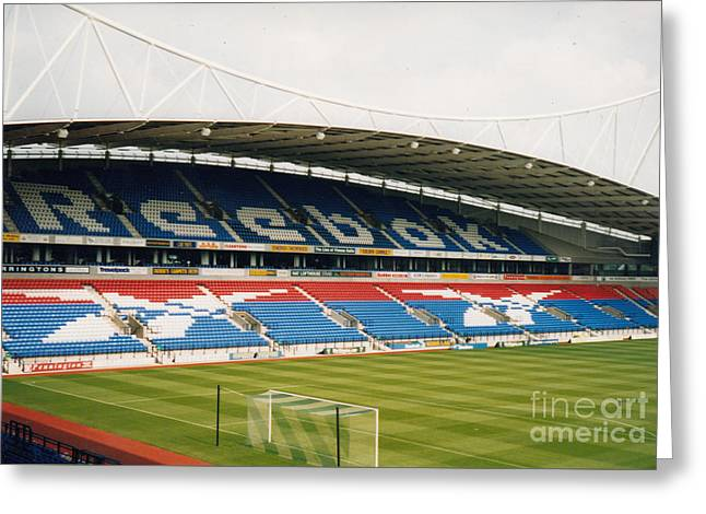 Reebok Greeting Cards - Bolton Wanderers - Reebok Stadium - East Side 1 - August 1998 Greeting Card by Legendary Football Grounds