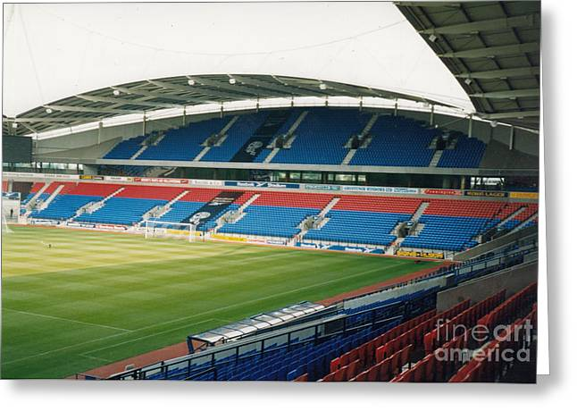 Reebok Greeting Cards - Bolton Wanderers - Reebok Stadium - South Side 1 - August 1998 Greeting Card by Legendary Football Grounds