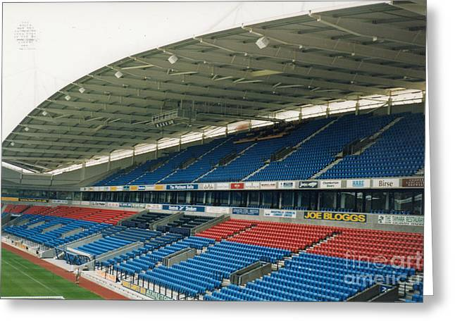 Reebok Greeting Cards - Bolton Wanderers - Reebok Stadium - West Side 1 - August 1998 Greeting Card by Legendary Football Grounds