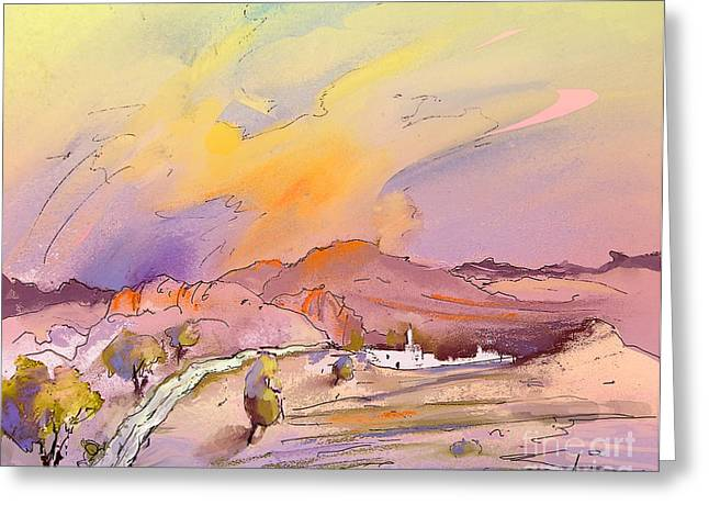 Townscape Drawings Greeting Cards - Bolulla 05 Greeting Card by Miki De Goodaboom