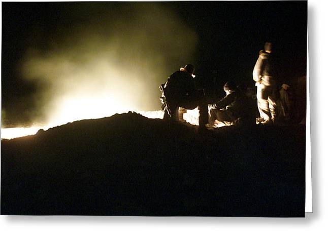 Best Sellers -  - Terrorism Greeting Cards - Bomb Crater Kandahar Greeting Card by Thomas Michael Corcoran