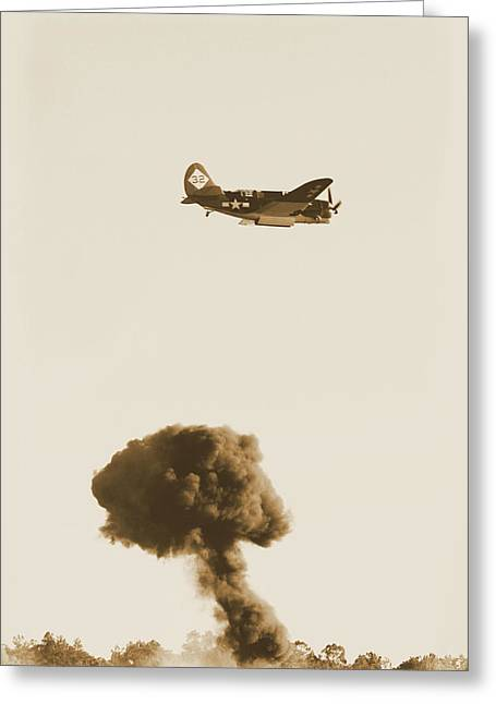Jet Bomber Greeting Cards - Bomb Drop Greeting Card by Karol  Livote