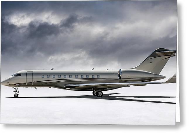 Bombardier Global 5000 Greeting Card by Douglas Pittman