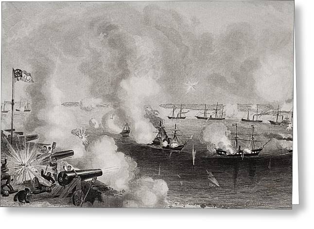 Engagement Picture Greeting Cards - Bombardment And Capture Of Forts Walker Greeting Card by Ken Welsh