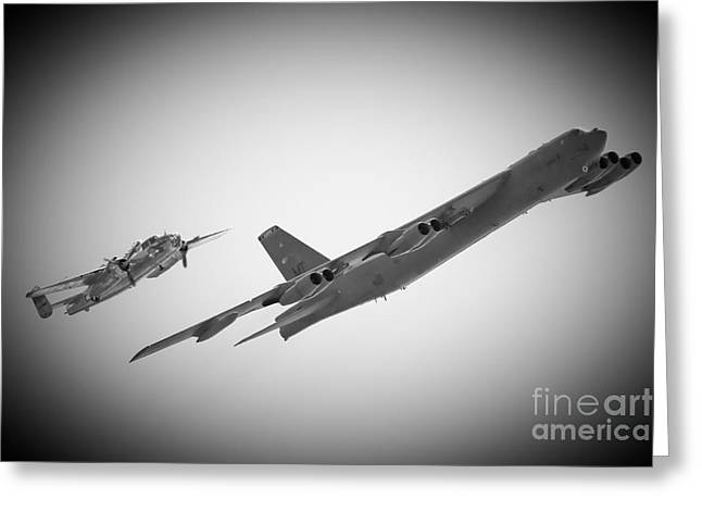Bomber Pair Greeting Card by Bob Mintie