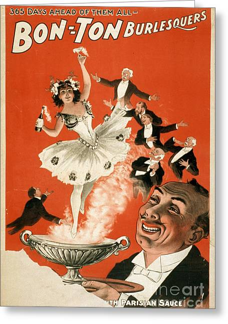 Bon-ton Burlesque Vintage Poster 1 Greeting Card by Edward Fielding