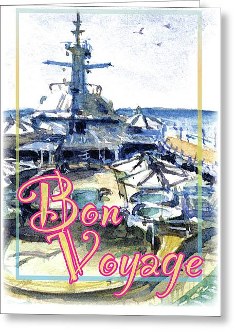 Bon Voyage Cruise Greeting Card by John D Benson