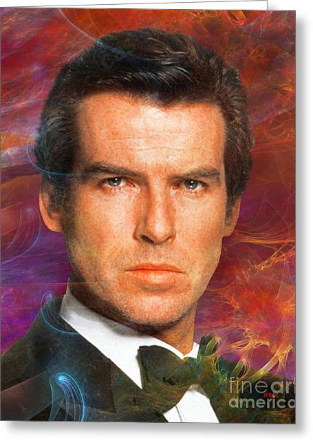 Bond - James Bond 5 Greeting Card by John Robert Beck