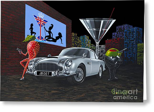 Bond Greeting Card by Michael Godard