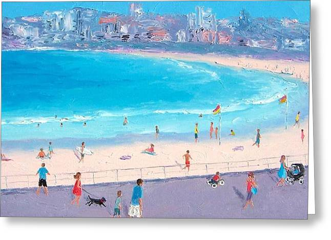 Beaches Greeting Cards - Bondi in December Greeting Card by Jan Matson
