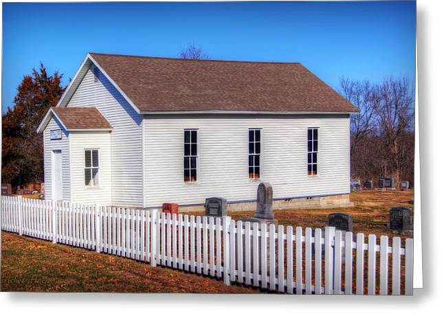Hartsburg Greeting Cards - Bonds Chapel 1883 Greeting Card by Cricket Hackmann