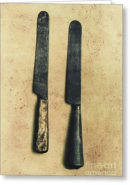 Bone-handled Knives Greeting Card by Jorgo Photography - Wall Art Gallery
