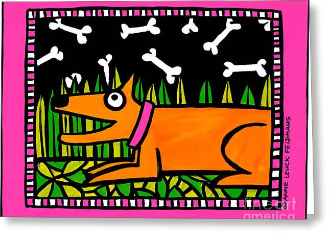 Narrative Greeting Cards - Boney Nights Greeting Card by Anne Leuck Feldhaus