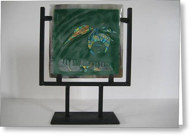 Dichroic Glass Greeting Cards - Boneyard Greeting Card by Mark Lubich