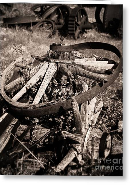 Colliery Greeting Cards - Boneyard of Wheels Greeting Card by Royce Howland