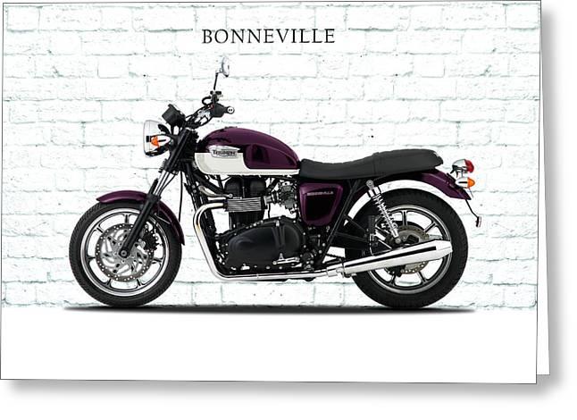 Bonneville T100 Greeting Card by Mark Rogan