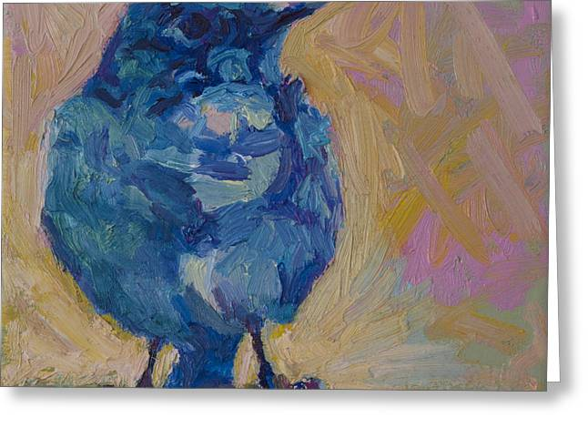 Western Blue Bird Greeting Cards - Bonnie Greeting Card by Patricia A Griffin
