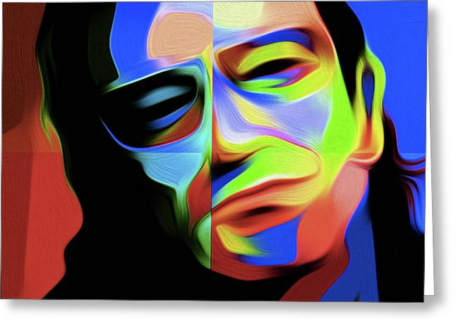 Bono D1 By Nixo Greeting Card by Nicholas Efthimiou Nixo