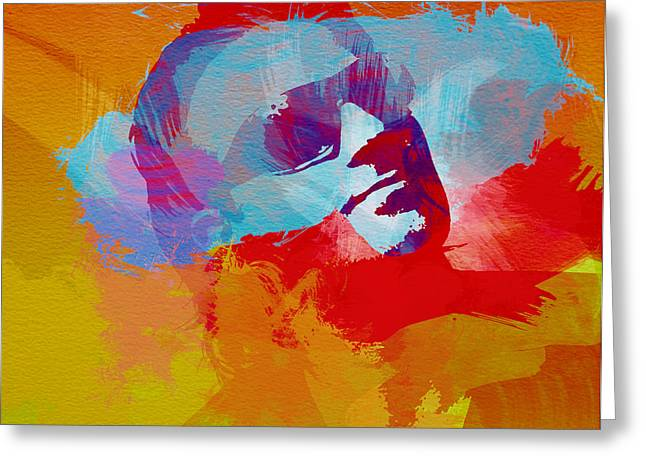 U2 Paintings Greeting Cards - Bono U2 Greeting Card by Naxart Studio