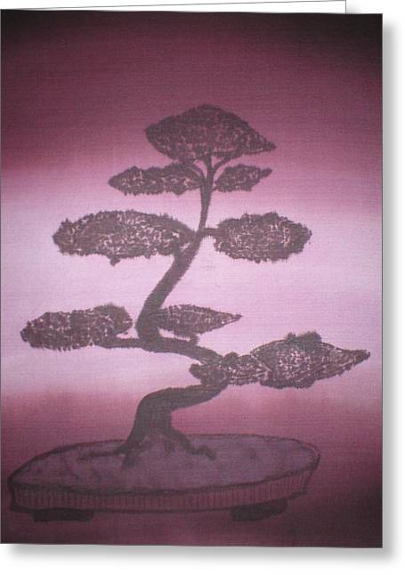 Burgundy Pastels Greeting Cards - Bonsai Greeting Card by Christine  Davis