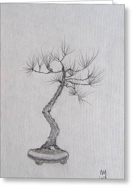 Bonsai Greeting Card by Nick Young
