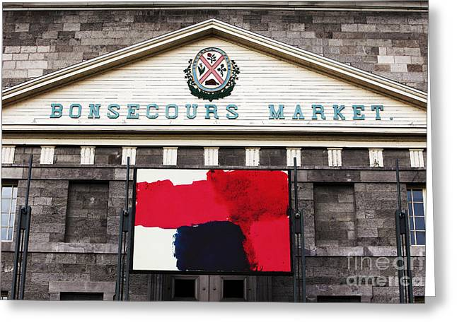 Bonsecours Market Greeting Card by John Rizzuto