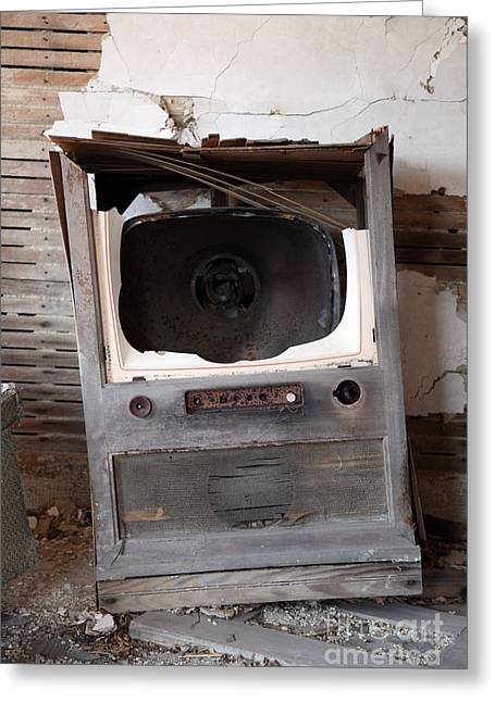 Old Tv Photographs Greeting Cards - Boobtube Greeting Card by Amanda Barcon