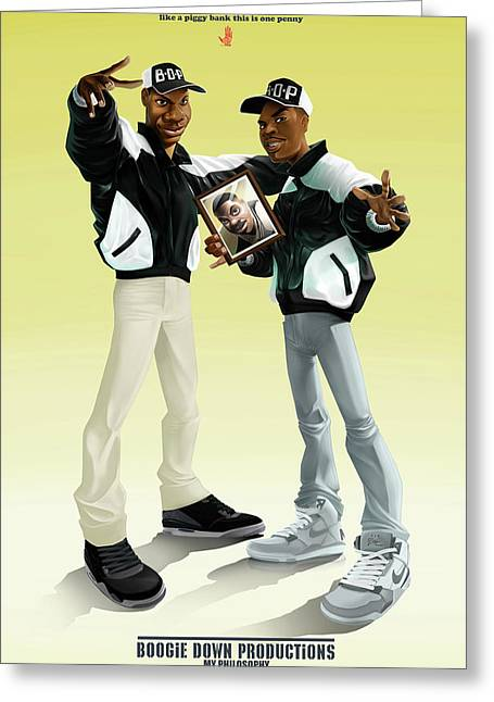Boogie Down Productions Greeting Card by Nelson Garcia
