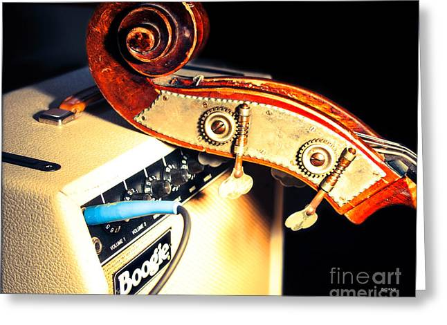 Double Bass Greeting Cards - Boogie Street Blues  Greeting Card by Steven  Digman