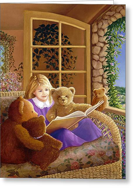 Story Time Greeting Cards - Book Club Greeting Card by Susan Rinehart